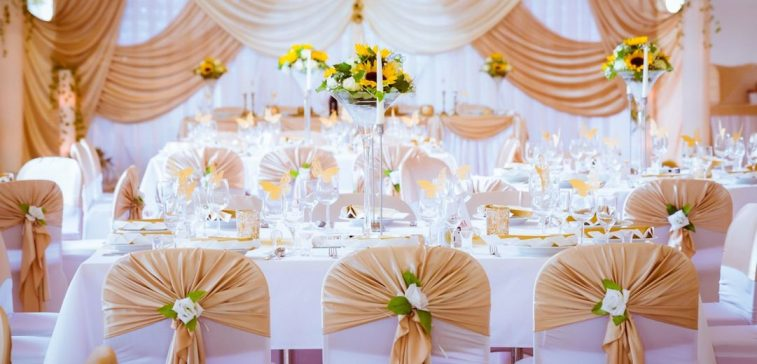 Gold Hochzeitsdekoration
